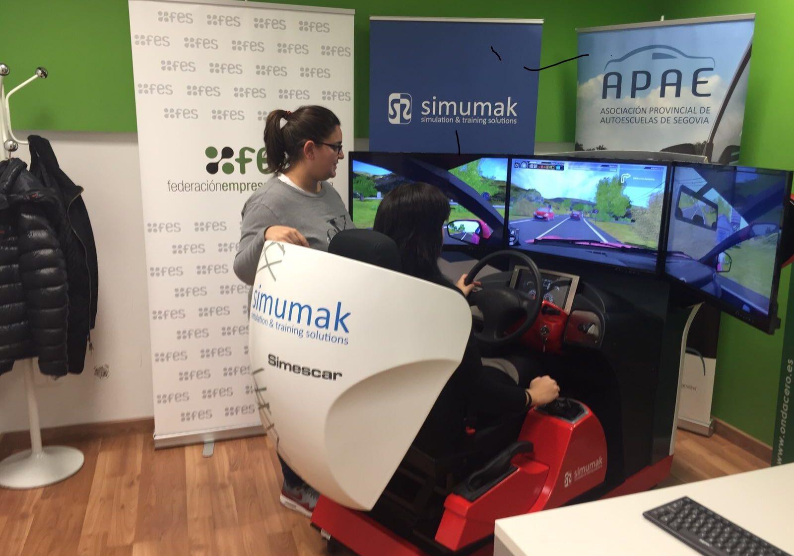 taller_simulador_virtual_segovia_santa_columba_autoescuela